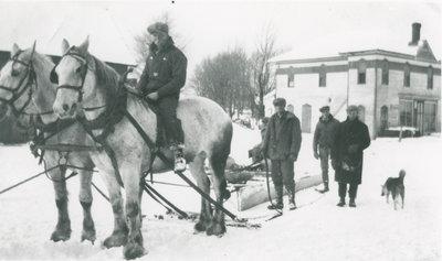 Snowploughing in Chantry, Ontario