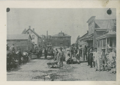 Newboro Main Street with Canning Factory