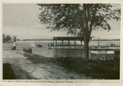 Government wharf, Portland, Ontario