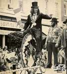 Clifton Brown with Penny Farthing