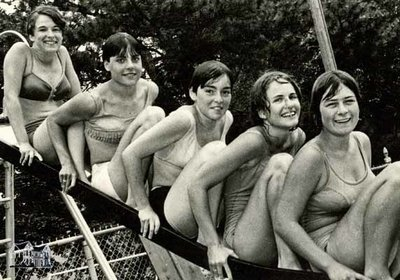 Five Girls on the Slide at Cadzow Pool