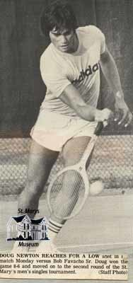 Doug Newton Playing Tennis