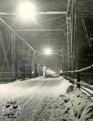Water Street Bridge, Winter 1948