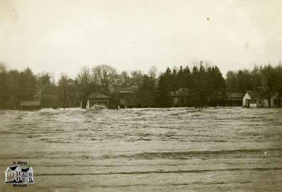 Flood of 1937, View of Thames River