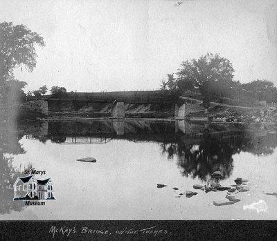 McKay's Bridge Over Thames River, 1901