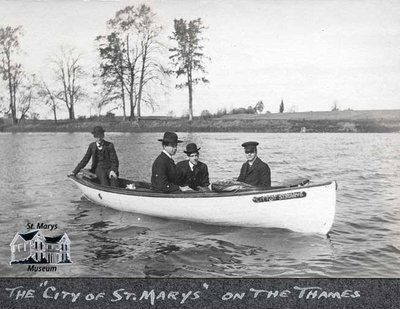 Four Men on the Thames River