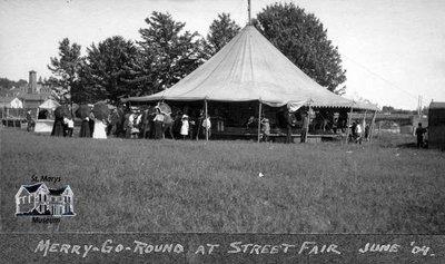 Carousel at Street Fair, 1904