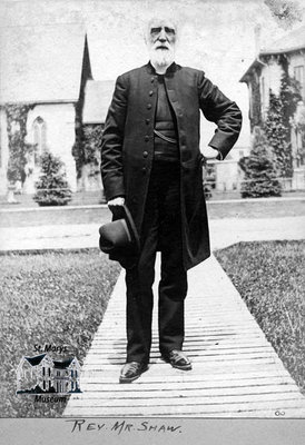 Reverend Mr. Shaw, 1900