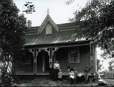 Family Portrait, Frame House with Ornate Front Porch, c. 1902-1906