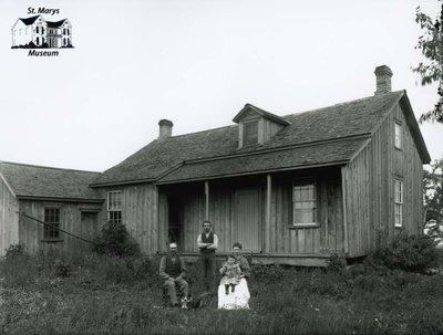 Family Portrait, Board and Batten Farmhouse, c. 1902-1906