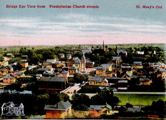 Bridge Eye View from Presbyterian Church Steeple