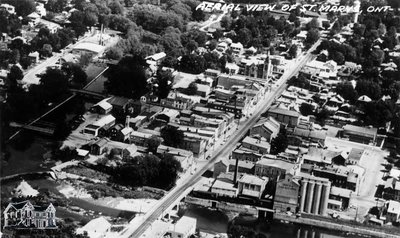Aerial View of St. Marys, Ont.
