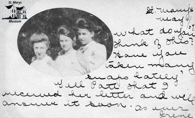 Oval Photo of Three Women