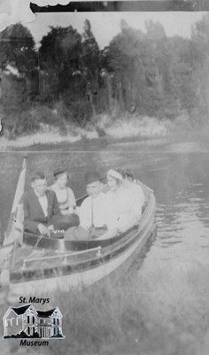 Five People in Rowboat
