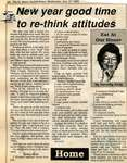 """New year good time to re-think attitudes"", Eat at Our House, 27 December 1989"