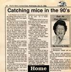 """Catching mice in the 90's"", Eat at Our House, 12 October 1992"