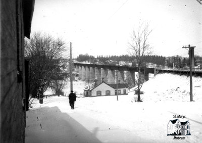 View of London Bridge in Winter