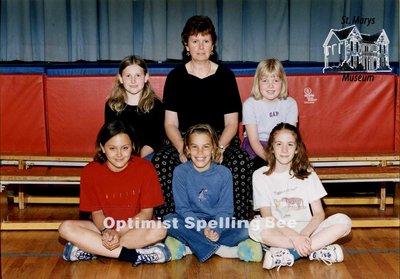 Arthur Meighen Public School Optimist Spelling Bee, 2000-2001