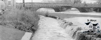 Victoria Bridge and Millrace, 1979