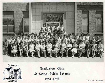 1964-1965 Graduating Class at North Ward School