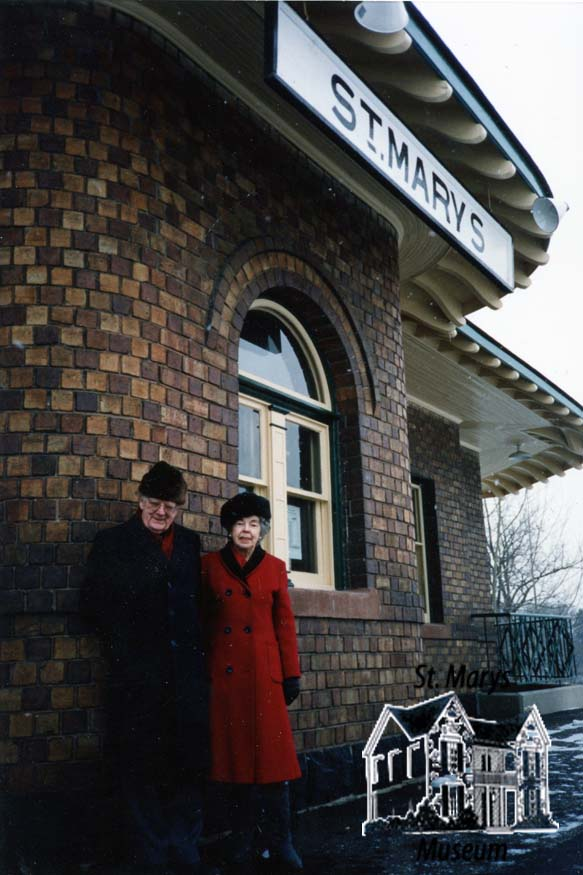 Couple in Front of VIA Station