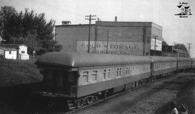 Passenger Train Near Cold Storage Plant
