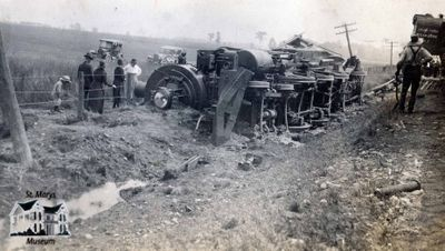 Train Wreck Near Kelly's Siding, 1920