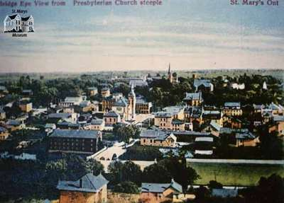 Bird's Eye View from the Presbyterian Church steeple