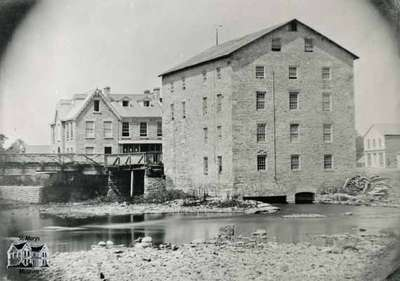 Mill and miller's house, 1860