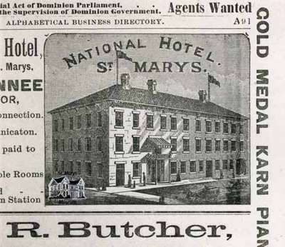 Woodcut of National Hotel