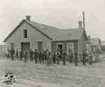 Richardson & Webster Foundry with Richardson Foundry Staff out front, 1893