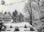 Conservatory and garden at Westover Park, 1907