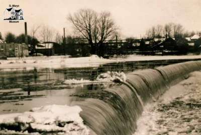 Flood of 1937 at the dam
