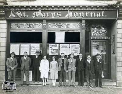 Staff of the St. Marys Journal Argus, 1930