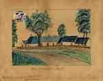 Sketch of William Johnston's birthplace (Ayrshire, Scotland)
