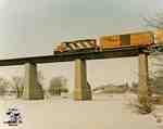 Train heading out of St. Marys via the Sarnia Bridge