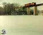 CNR Train entering St. Marys on the Sarnia bridge