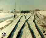 Tracks in the snow on the CPR line