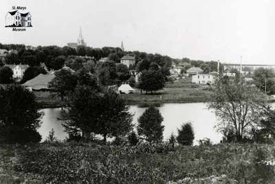 View of the Flats (Milt Dunnell Field), 1917
