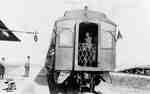 GTP Train leaving station in Frobisher, Saskatchewan