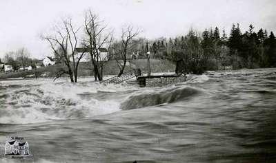 Park Street bridge washed out, 1947