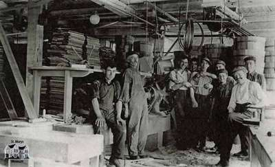 Maxwell factory interior with employees