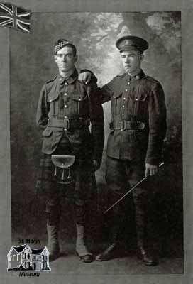 William G. Sandercock and James C. Sandercock in uniform, 1916
