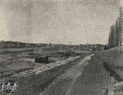 View of St. Marys looking northeast from Wellington Street South above Quarry, ca. 1905