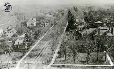 Birds Eye View of Queen Street from Water Tower