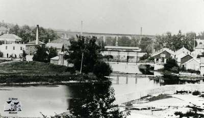 View of St. Marys bridges from West Ward