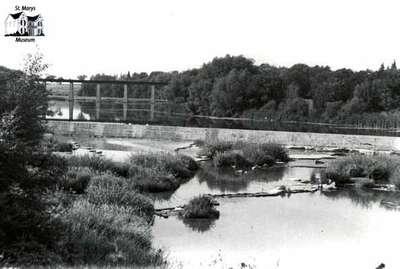 View from Queen Street Bridge, ca. 1960