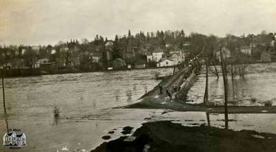 View of the Thames River during the Flood of Spring 1929
