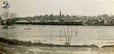View of the Thames River during Spring Flood 1929