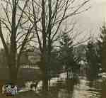 Thames River in Flood, Spring 1929